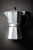 Coffee maker bialetti. On black background Royalty Free Stock Photos