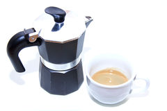 Coffee maker with coffee cup Royalty Free Stock Photos