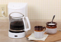 Coffee Maker and Cup Royalty Free Stock Images