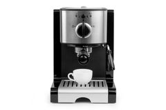Coffee maker and cup Stock Photography