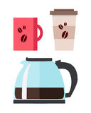 Coffee Maker with Cup Royalty Free Stock Photography