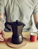 Coffee maker and cup Royalty Free Stock Image