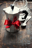 Coffee maker and cups Stock Images