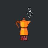 Coffee maker design vintage background Stock Images