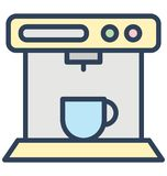Coffee maker, espresso maker Isolated Vector Icon That can be easily edited in any size or modified. royalty free illustration