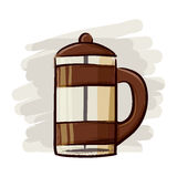 Coffee Maker Hand Drawing Royalty Free Stock Image