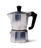 Coffee maker. Isolated on a white background Royalty Free Stock Photo