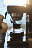 Coffee maker machine. Shallow DOF Toning Stock Photo