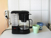 Coffee Maker And Mugs Royalty Free Stock Photos