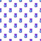 Coffee maker pattern, cartoon style Stock Image