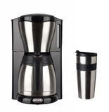 Coffee maker and thermo cup Royalty Free Stock Photos