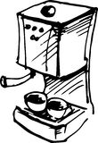 Coffee maker. Vector illustration Royalty Free Stock Image