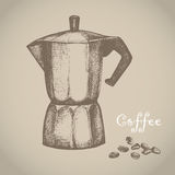 Coffee maker. Vector illustration. Royalty Free Stock Images