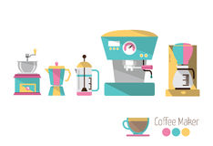 Coffee makers. Royalty Free Stock Image