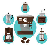Coffee makers. Royalty Free Stock Photography