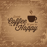 Coffee Makes You Happy Royalty Free Stock Photography