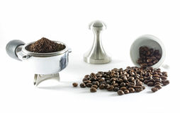 Coffee making. Coffee equipment for making coffee from grind coffee powder Royalty Free Stock Images