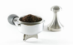 Coffee making. Coffee equipment for making coffee from grind coffee powder Stock Photos