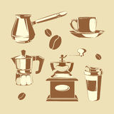 Coffee making equipment Royalty Free Stock Photography