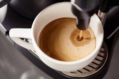 Coffee making with espresso machine Stock Image