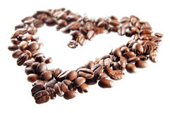 Coffee-making heart Stock Photos