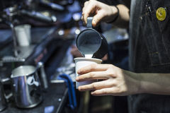 Coffee making Stock Images