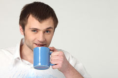 Coffee man Stock Photo