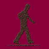 Coffee man from coffee beans Stock Photos
