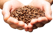 Coffee in man hands Stock Photo