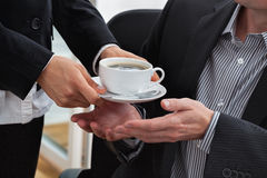 Coffee for a manager Stock Photo