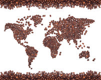 Coffee map Royalty Free Stock Photos