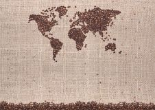 Coffee map Stock Image