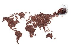 Coffee map Stock Photo