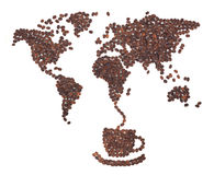 Coffee Map Royalty Free Stock Photography