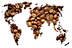 Coffee map Royalty Free Stock Images