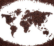 Coffee map Royalty Free Stock Photo