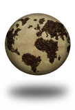 Coffee map atlas Royalty Free Stock Image