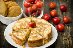 Coffee Marble Cheesecake Stock Images
