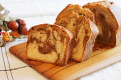 Coffee Marble Pound Cake. Homemade Coffee Marble Pound Cake Royalty Free Stock Photo