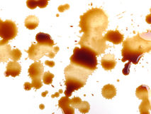 Coffee marks and drops Royalty Free Stock Photography