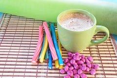 Coffee and marmalade. Tasty smack beautiful Stock Photography