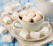 Coffee with marshmallows Stock Photo