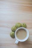Coffee and matcha bun royalty free stock photos