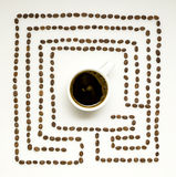 Coffee maze. Royalty Free Stock Photography