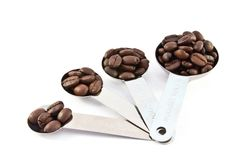 Coffee measure spoon Royalty Free Stock Images