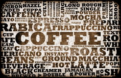 Coffee Menu Stock Photo