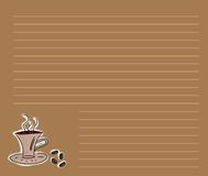 Coffee menu. Or recipe background vector illustration