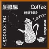 Coffee menu Royalty Free Stock Photo