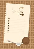 Coffee menu Stock Photos