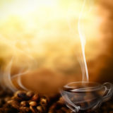 Coffee menu. Cup of steam composed for making hot drinks menu Royalty Free Stock Images